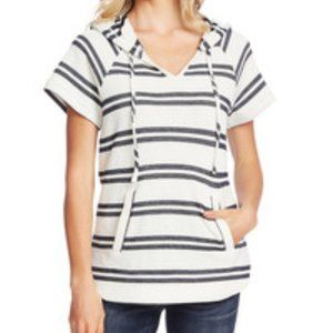 Women's Vince Camuto Stripe Pique Pullover Hoodie